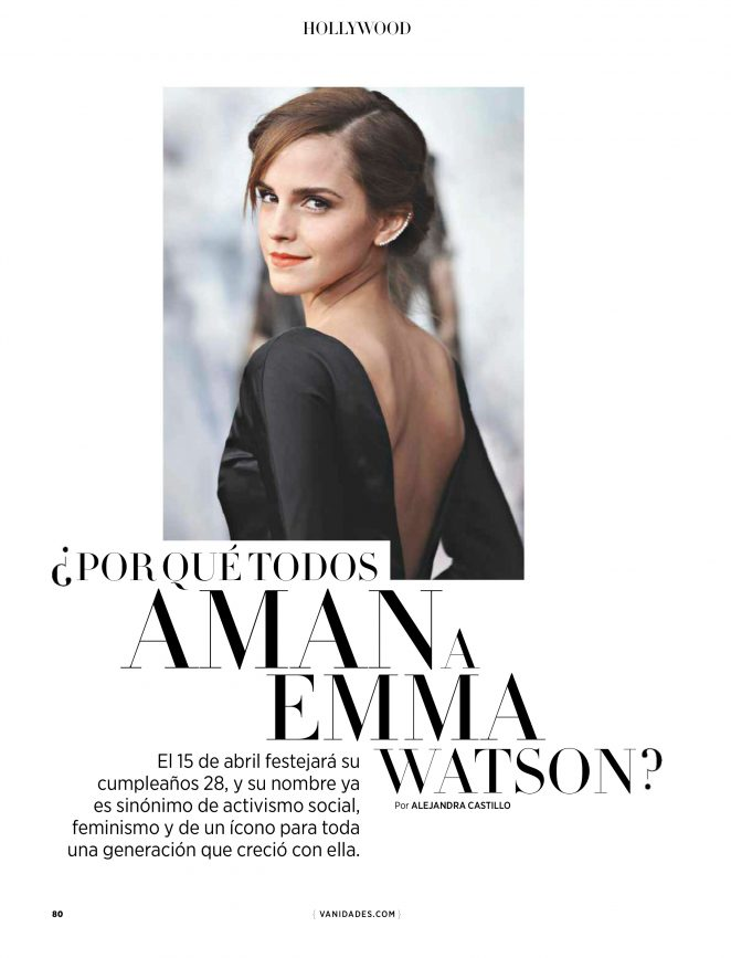 Emma Watson - Vanidades Mexico Magazine (April 2018)