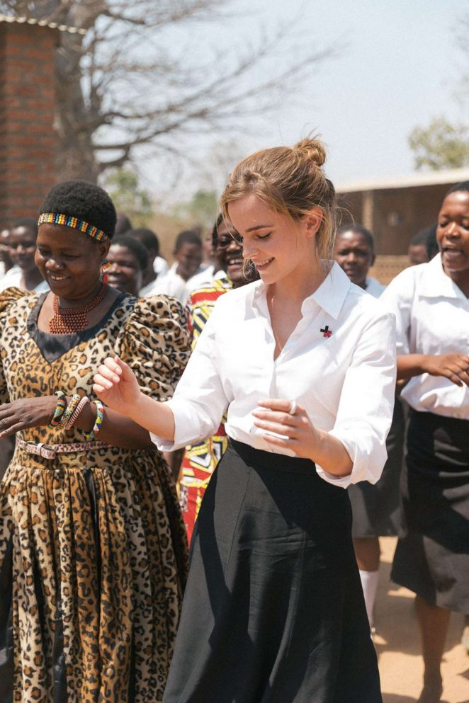 Emma Watson - Visiting Africa with UN Women in Malawi