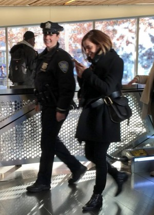 Emma Watson - Visits 911 Memorial in NYC