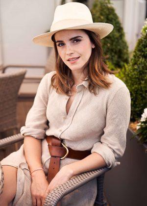 Emma Watson - Wimbledon 2018 Men's Singles Final in London