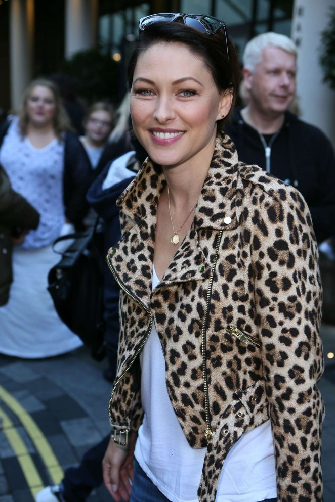 Emma Wilis Leaving the Ham Yard Hotel in London