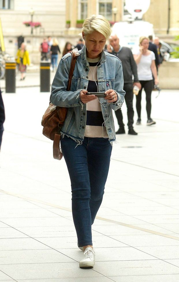 Emma Willis - Arrives at The One Show in London