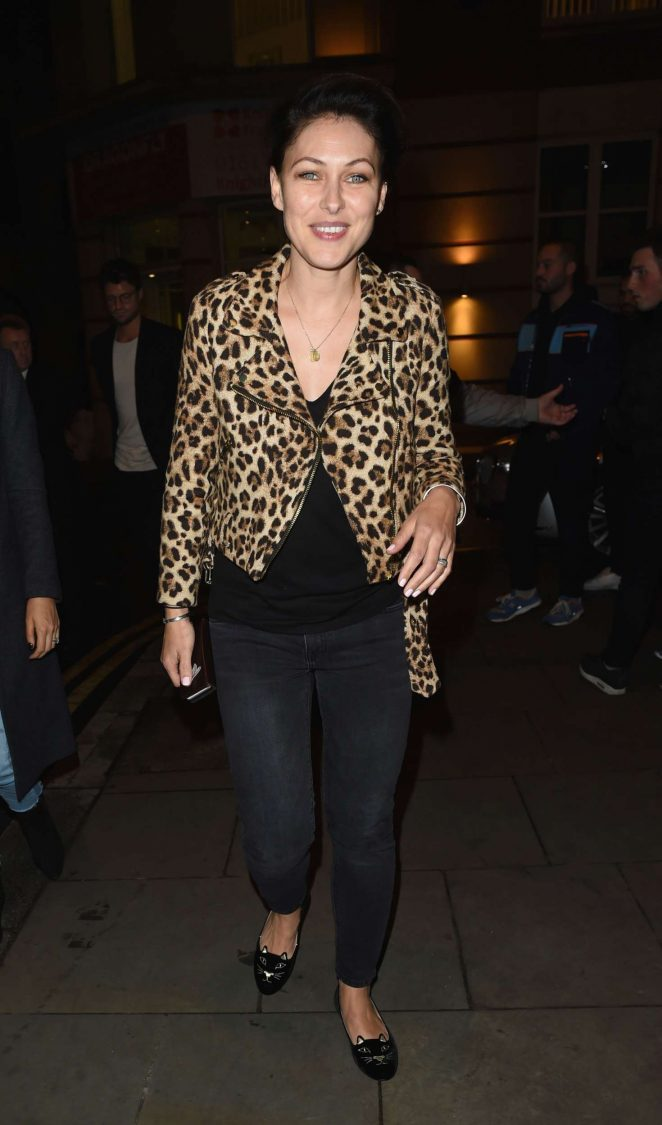 Emma Willis in Jeans Night Out in Manchester