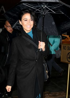 Emmanuelle Chriqui - Arriving at Today Show in New York City