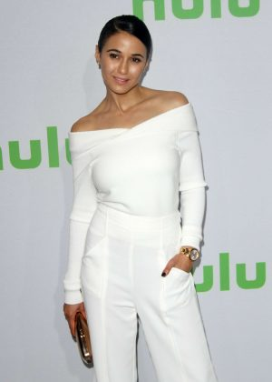 Emmanuelle Chriqui - Hulu's Winter TCA 2017 in Los Angeles
