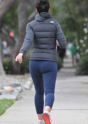 Emmanuelle Chriqui in Leggings out in LA