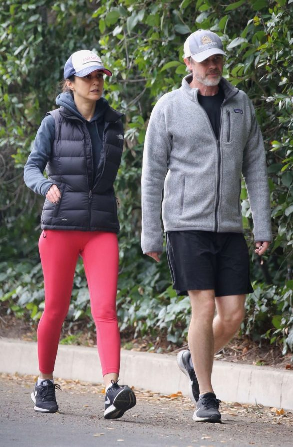 Emmanuelle Chriqui - Out for a hike with a friend in Hollywood