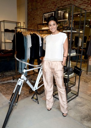 Emmanuelle Chriqui - Rag & Bone Sole Bicycle Event in Venice