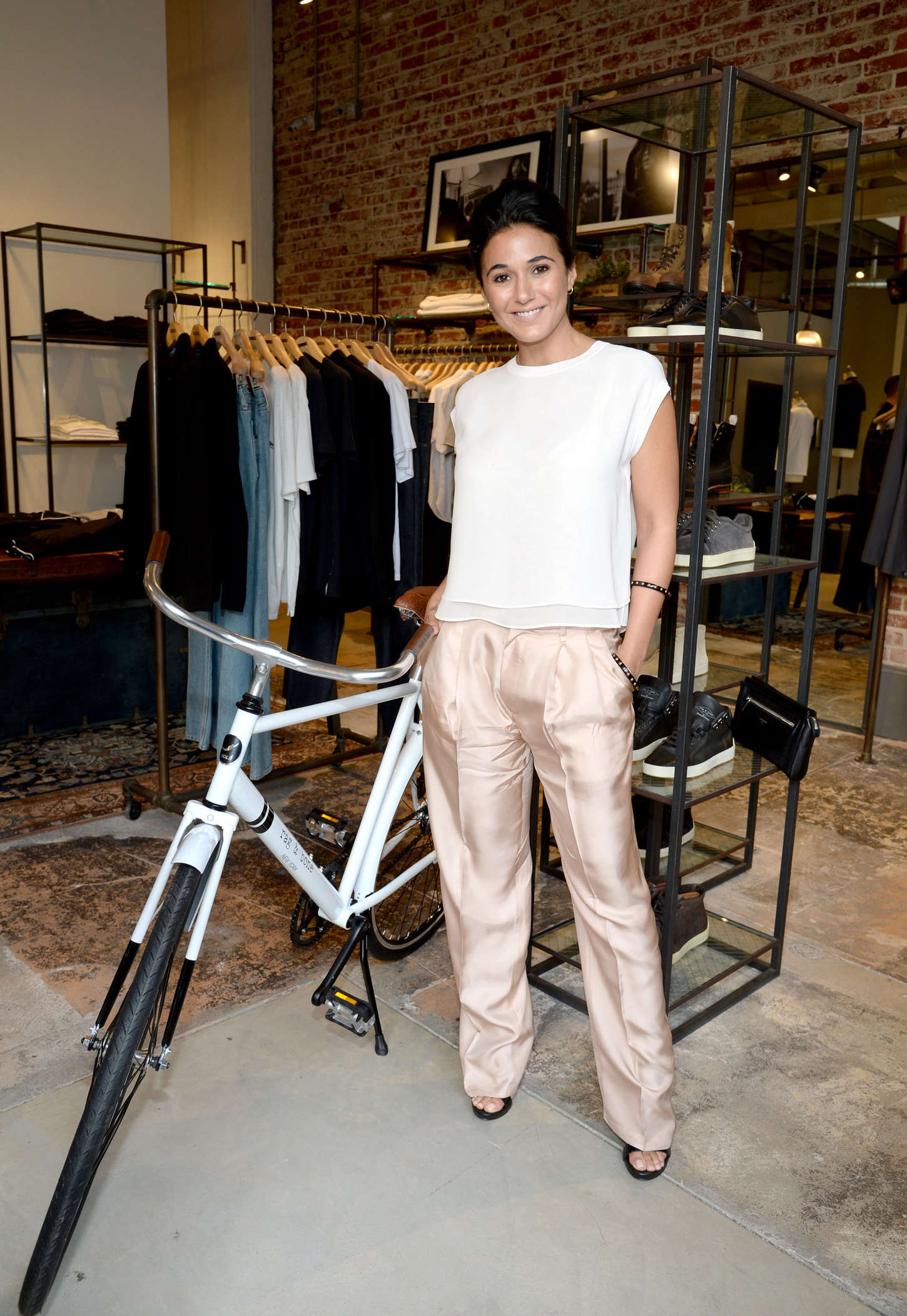 Emmanuelle Chriqui - Rag & Bone Sole Bicycle Event in Venice