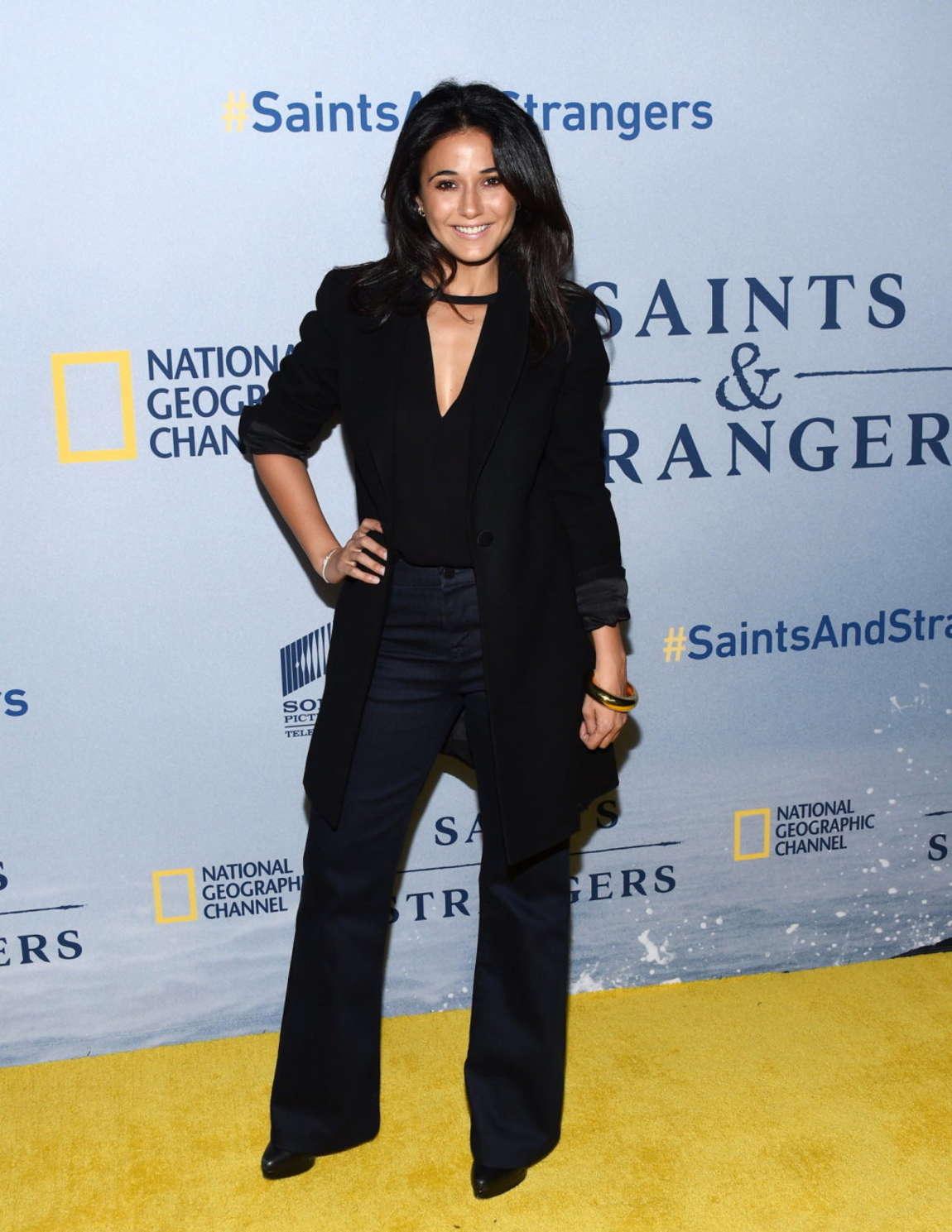 Emmanuelle Chriqui - 'Saints And Strangers' Premiere in Beverly Hills