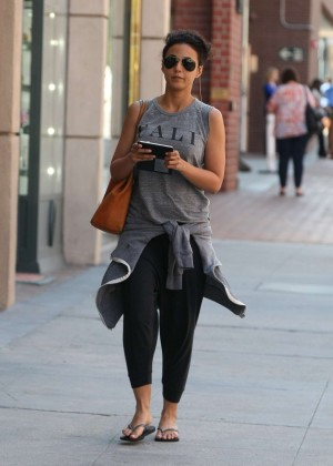 Emmanuelle Chriqui in Leggings Visits the Doctor in NY