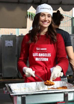 Emmy Rossum: 2015 Los Angeles Mission Christmas Dinner-09