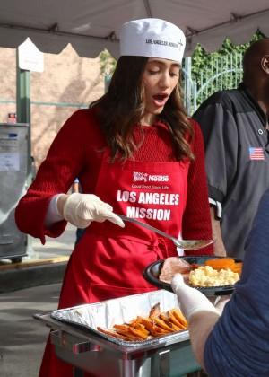 Emmy Rossum: 2015 Los Angeles Mission Christmas Dinner-11