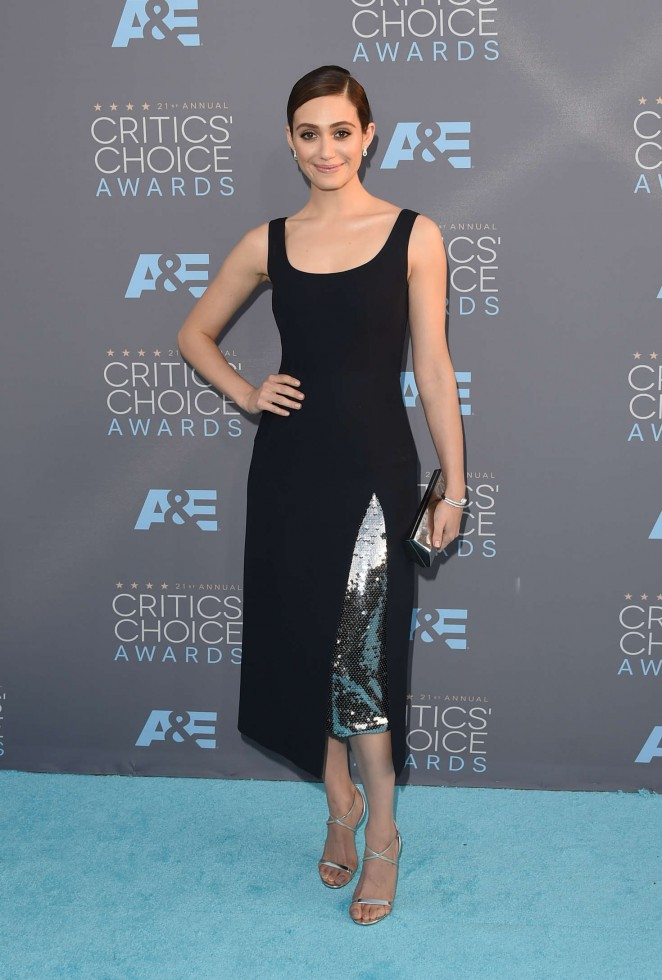 Emmy Rossum - 2016 Critics Choice Awards in Santa Monica