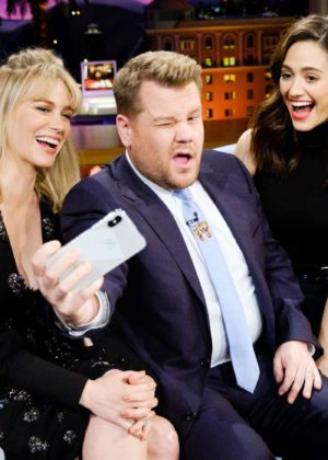 Emmy Rossum and January Jones - 'The Late Late Show with James Corden' in LA