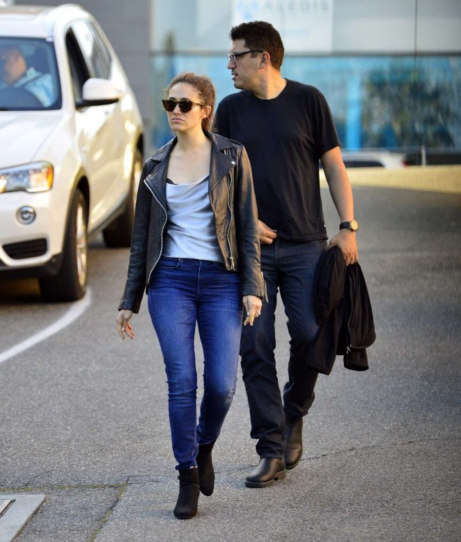 Emmy Rossum and Sam Esmail – Heading out for a dinner in Los Angeles
