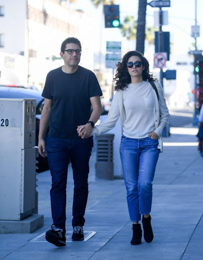 Emmy Rossum and Sam Esmail - Out in Beverly Hills