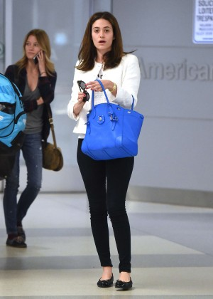 Emmy Rossum - Arrives at JFK airport in NYC