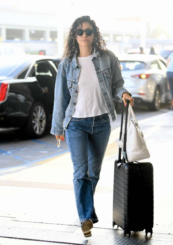 Emmy Rossum - Arrives at LAX Airport in LA