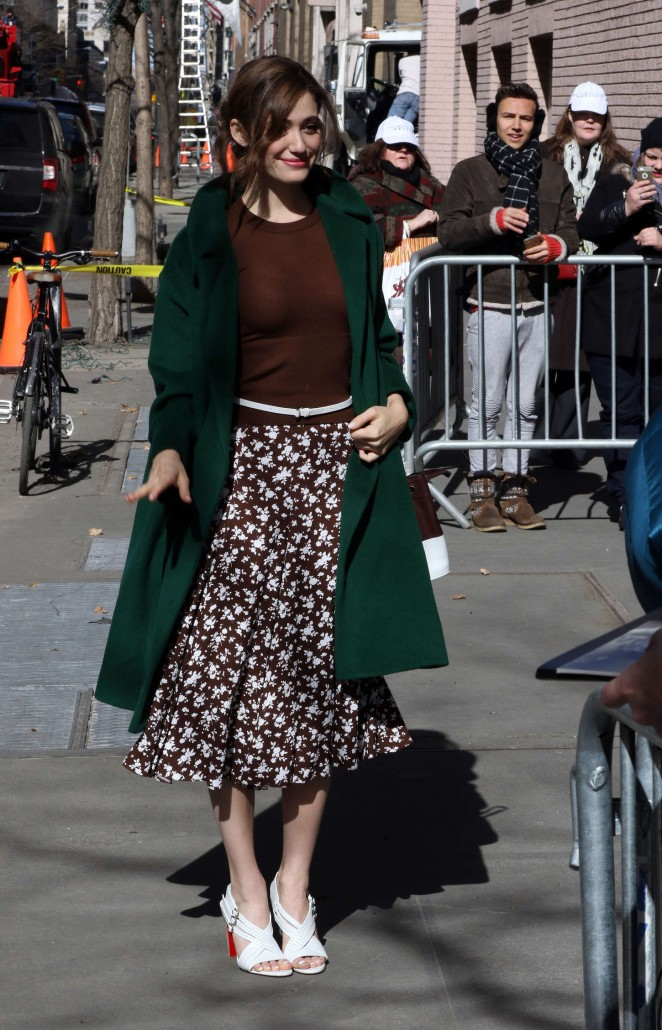 Emmy Rossum - Arrives at 'The View' in NYC