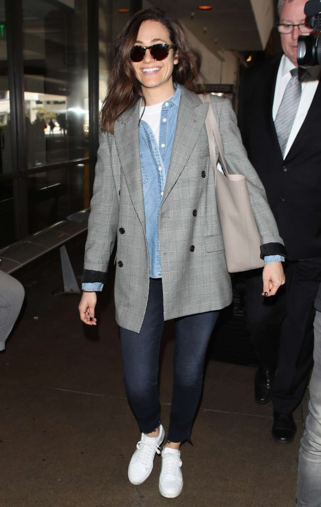 Emmy Rossum - Arriving at LAX Airport in LA