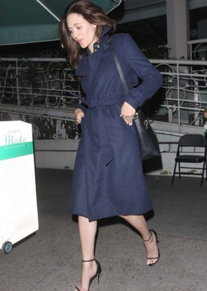 Emmy Rossum at Madeo Restaurant in Hollywood