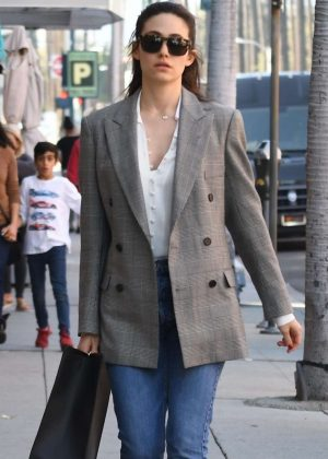 Emmy Rossum at Pressed Juicery in Beverly Hills