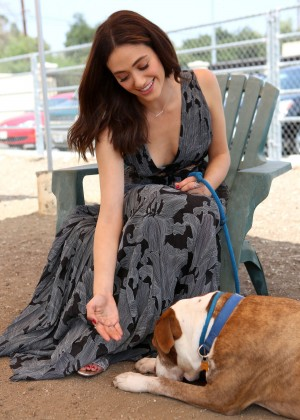 Emmy Rossum at the Best Friends Animal Society in LA