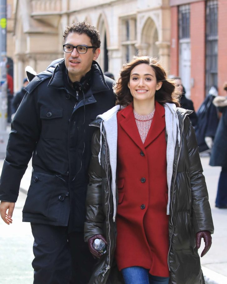 Emmy Rossum - Filming 'Mr. Robot' in New York City