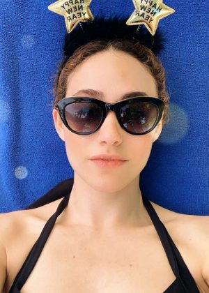 Emmy Rossum in a Bikini - Instagram