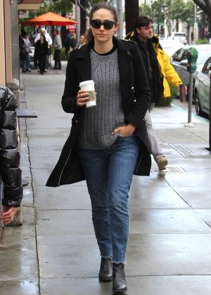 Emmy Rossum in Jeans out in Beverly Hills