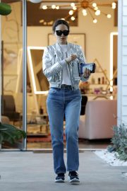 Emmy Rossum - In jeans seen leaving Balayage by Nancy Braun in Beverly Hills