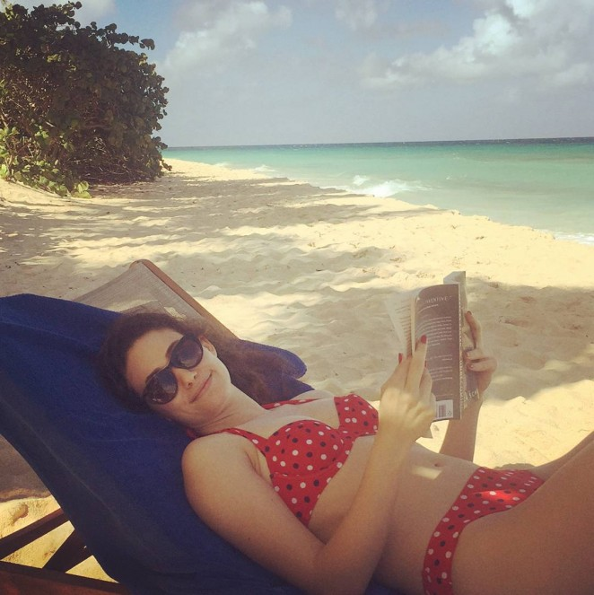 Emmy Rossum - In Red Bikini