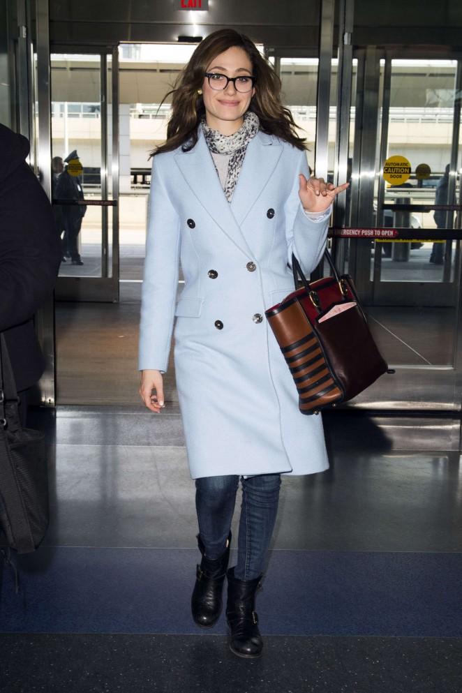 Emmy Rossum - JFK Airport in NYC
