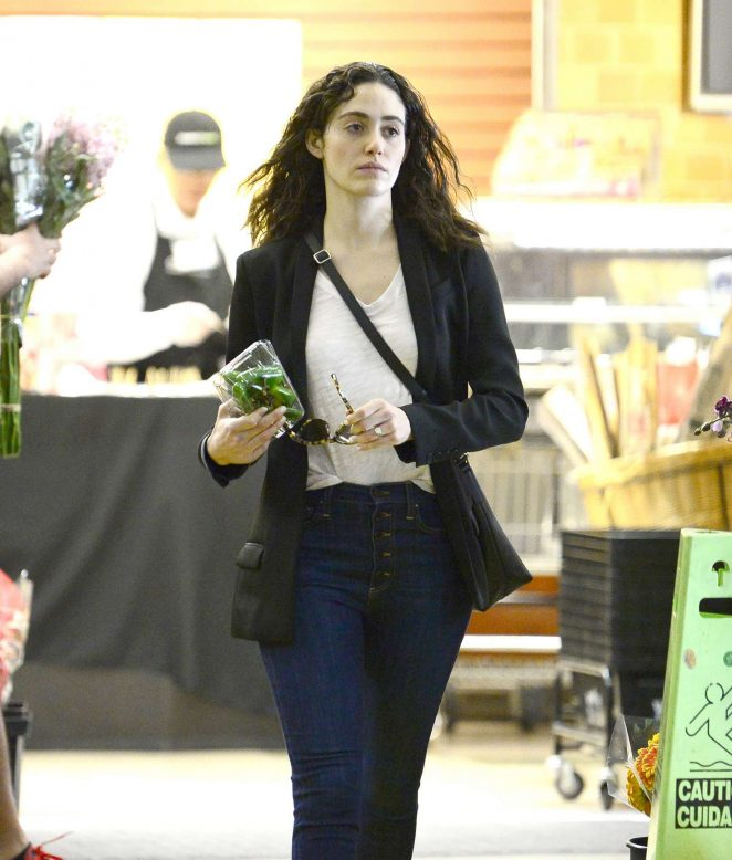 Emmy Rossum - Leaves Whole Foods in Beverly Hills