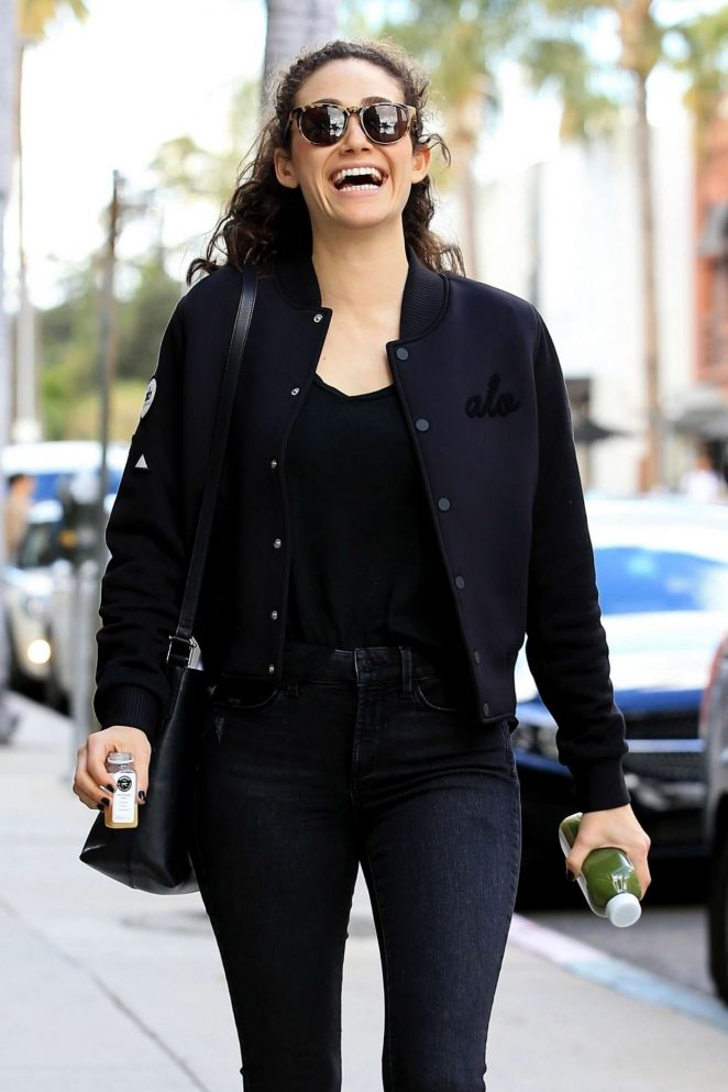 Emmy Rossum - Leaving a pressed juicery in Beverly Hills