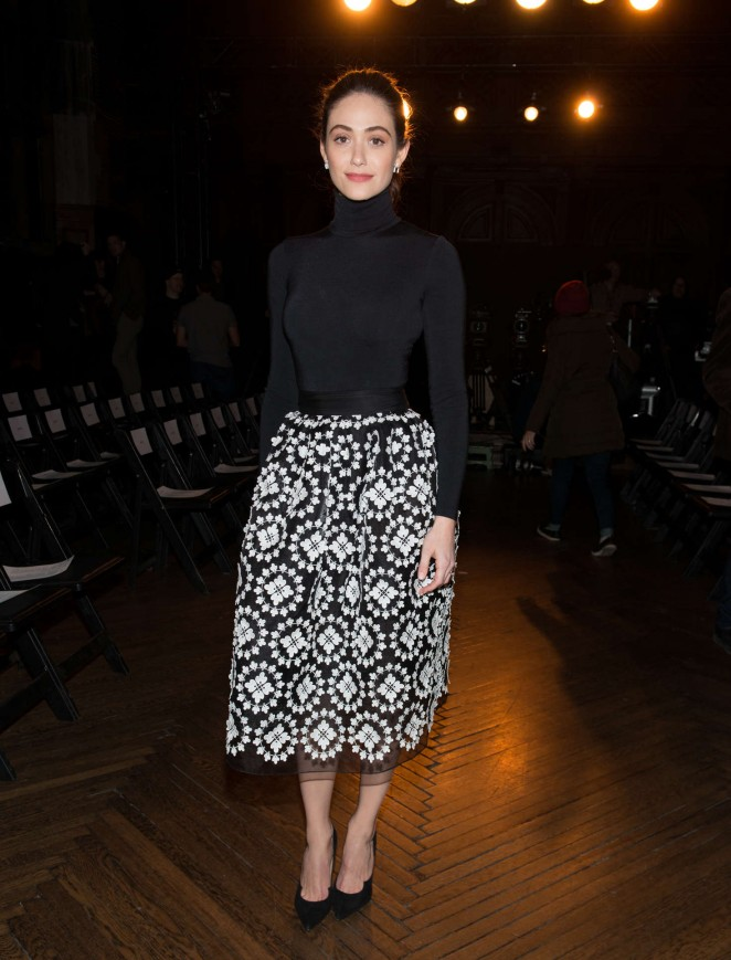Emmy Rossum - Monse Front Row at New York Fashion Week 2016 in NY