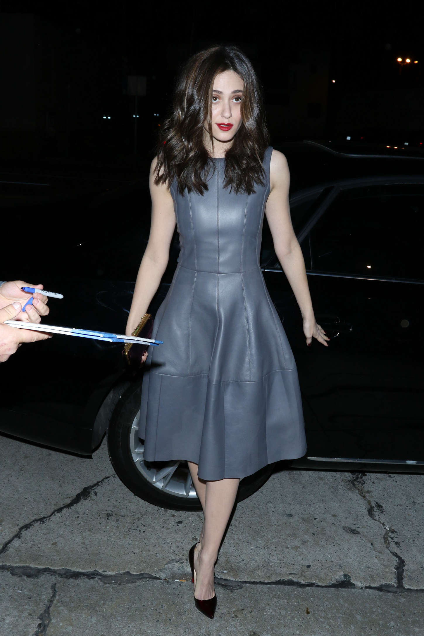 emmy rossum night out in beverly hills
