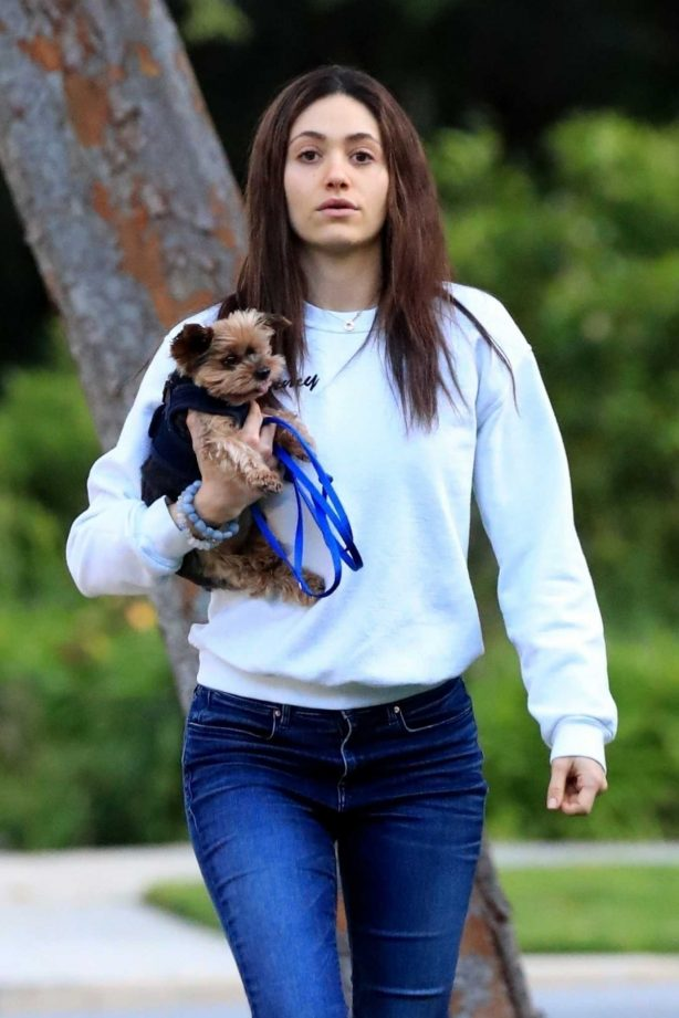 Emmy Rossum - Out for a walk in Beverly Hills