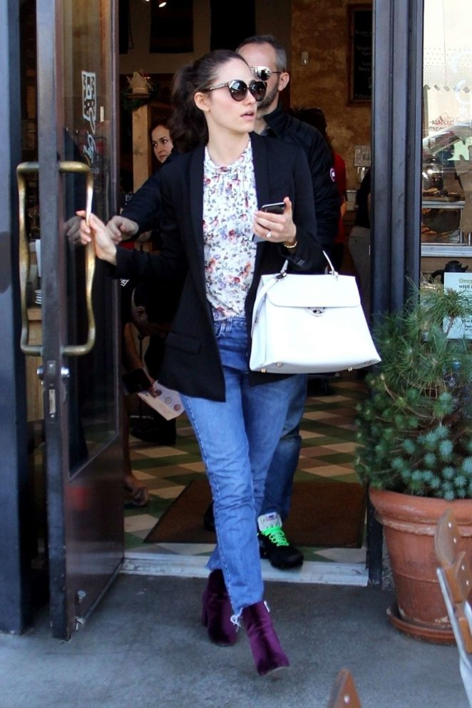Emmy Rossum - Out for lunch at Le Pain Quotidien in LA