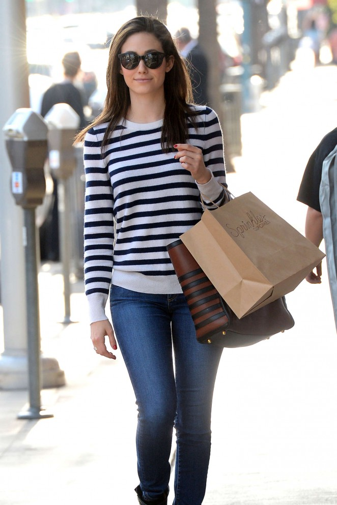 Emmy Rossum in Tight Jeans Out in Los Angeles