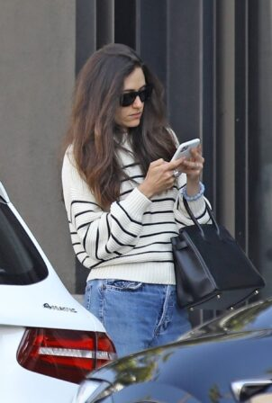 Emmy Rossum - pictured outside Nate n Als in Beverly Hills