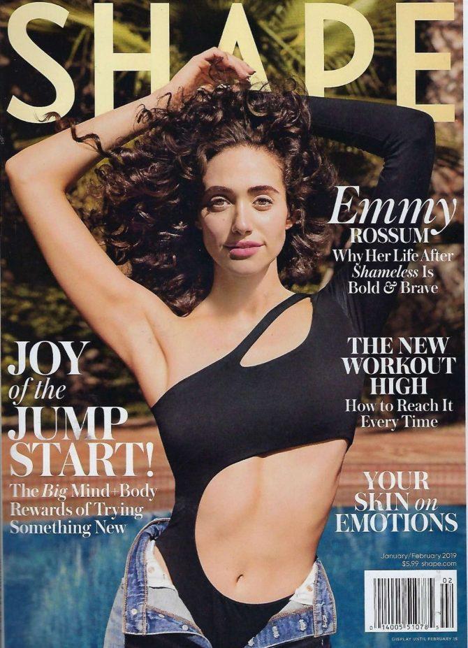 Emmy Rossum - Shape Magazine Cover (January /February 2019)