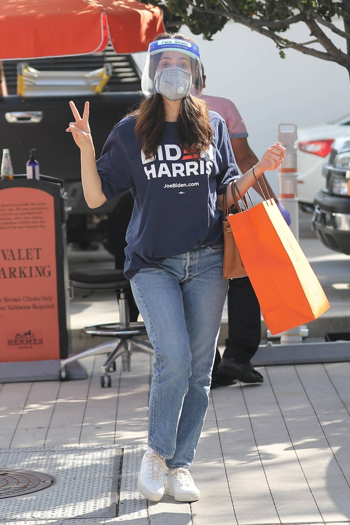 Emmy Rossum - Shopping candids at Hermes on Rodeo Dr. in Beverly Hills
