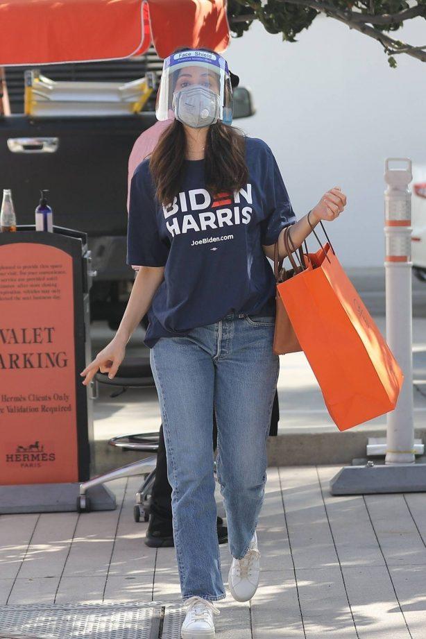 Emmy Rossum - Shopping candids in Beverly Hills