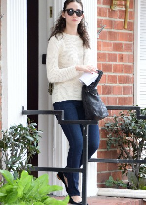 Emmy Rossum in Jeans Shopping in Beverly Hills