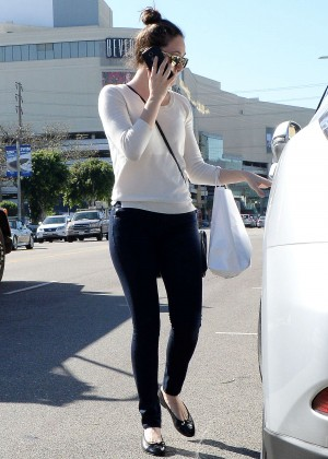 Emmy Rossum in Tight Jeans - Shopping in West Hollywood