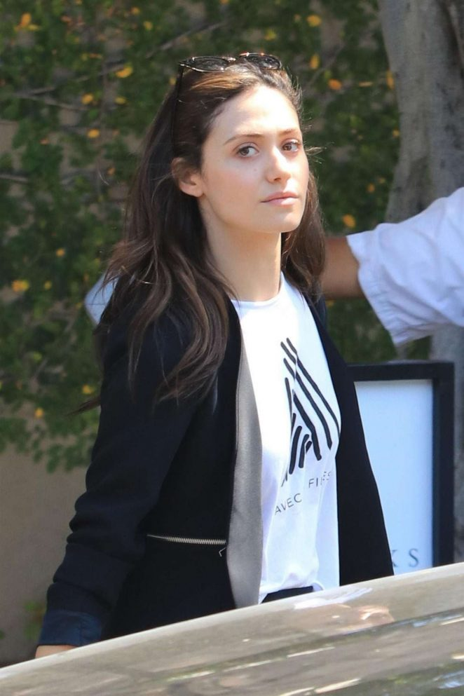 Emmy Rossum shopping in West Hollywood