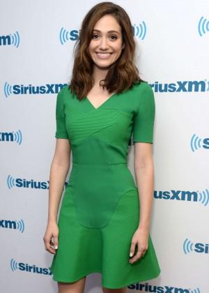 Emmy Rossum - SiriusXM Studios in NYC