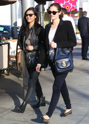 Emmy Rossum With Friend Out in Beverly Hills